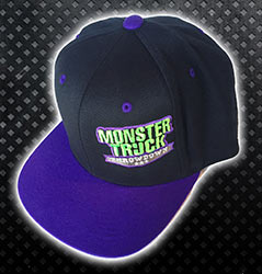 Purple and Black Monster Truck Throwdown Fitted Hat